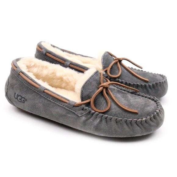 272b5deb42f UGG Dakota Pewter Sheepskin Moccasin Slippers NEW! Boutique